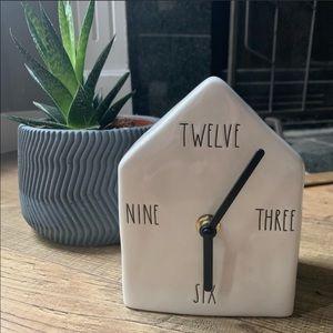 New Rare Rae Dunn birdhouse clock